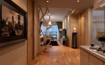 水郡花园现代风格三居室家庭装修案例效果图