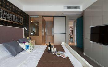 卧室推拉门新古典风格装潢效果图