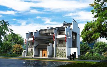 现代简约新中式别墅装修效果图