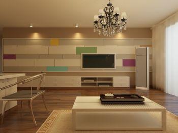 简约风格80平米二居室装修案例效果图