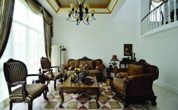 欧式风格复式四居室设计效果图