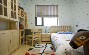 儿童房彩色窗帘现代简约风格装饰设计图片