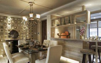 餐厅米色餐桌法式风格装饰设计图片