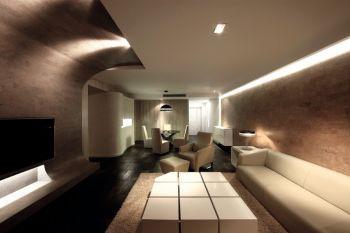 后现代简约式三居装修效果图
