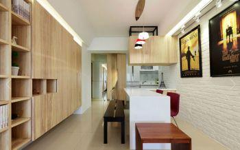 高塘三村现代简约二居室装修效果图