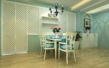 餐厅白色细节地中海风格装潢设计图片