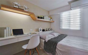 卧室白色现代简约风格装潢设计图片