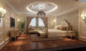 卧室黄色背景墙欧式风格装潢图片