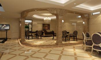 黄色走廊欧式风格装修设计图片
