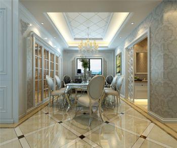 餐厅白色欧式风格装饰设计图片
