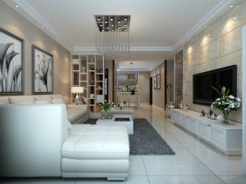 客厅白色细节现代简约风格装修设计图片