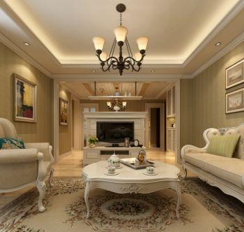 客厅吊顶简欧风格装修图片