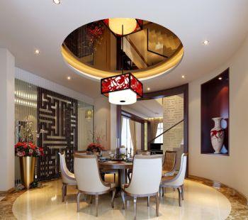 餐厅吊顶现代中式风格装修效果图