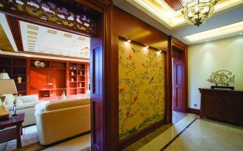 隔断现代中式风格装潢设计图片
