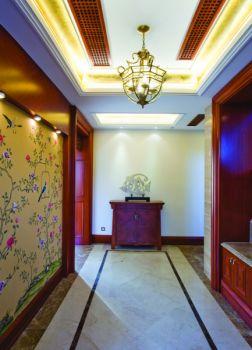 玄关吊顶现代中式风格装修效果图