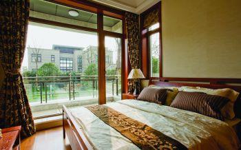 卧室推拉门现代中式风格装潢图片