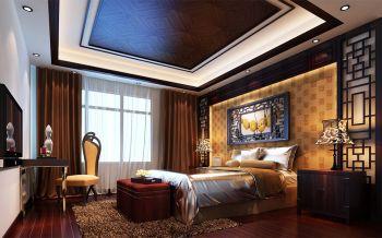 卧室咖啡色床头柜新中式风格装饰效果图