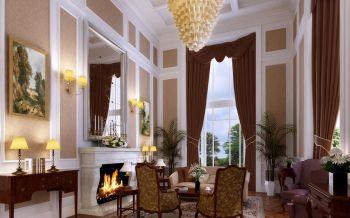 客厅飘窗欧式风格装潢设计图片