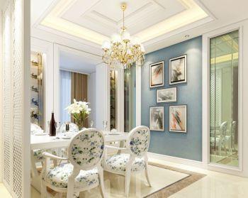 餐厅照片墙法式风格装修设计图片