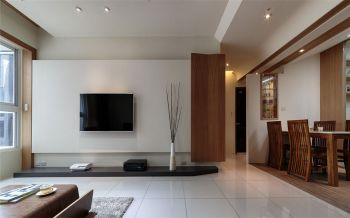 现代简约家庭二居室装修效果图