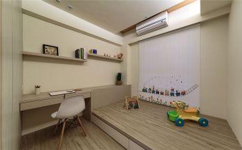 儿童房黄色榻榻米简约风格装饰图片
