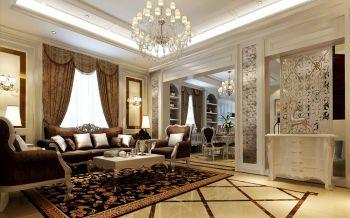 客厅隔断欧式风格装潢图片
