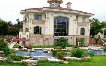 欧式风格160平米达安圣芭芭花园别墅装修效果图