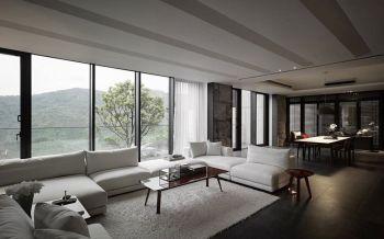 客厅吊顶后现代风格装潢设计图片