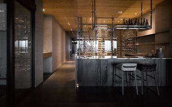 餐厅背景墙后现代风格装饰效果图