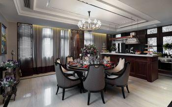 餐厅窗帘现代欧式风格装潢设计图片