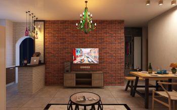 美式风格90平米公寓装修效果图