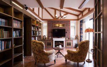 书房吊顶美式风格效果图