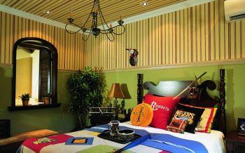 卧室背景墙东南亚风格装修图片