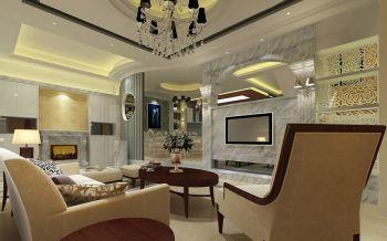 客厅吊顶现代欧式风格装潢效果图