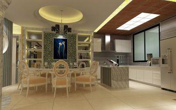 餐厅绿色照片墙现代欧式风格装饰图片