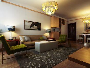 日式风格90平米二居室房子装修效果图
