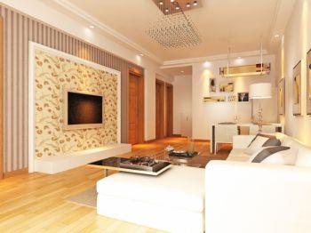 田园风格90平米三居室房子装修效果图