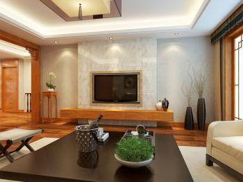 客厅白色背景墙新中式风格装潢效果图
