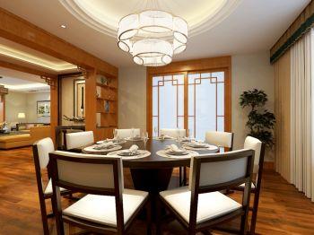 餐厅白色吊顶新中式风格装修设计图片