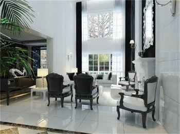 客厅窗帘现代欧式风格装潢效果图