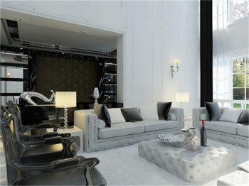 客厅背景墙现代欧式风格装修图片