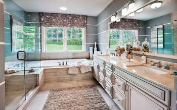 卫生间窗帘欧式风格装饰图片