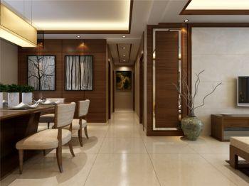 餐厅米色走廊中式风格装潢设计图片