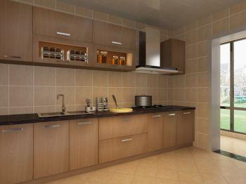 厨房咖啡色背景墙现代简约风格装饰效果图