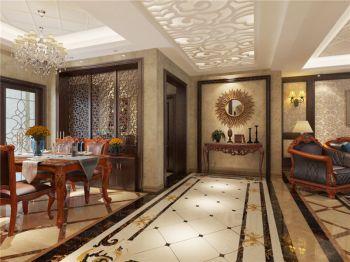 现代欧式风格160平米三居室房子装修效果图