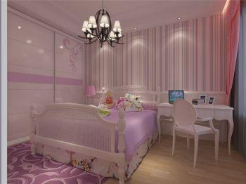 儿童房背景墙简欧风格装饰效果图