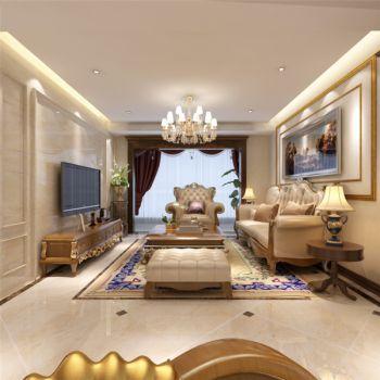 简欧风格160平米四居室房子装修效果图