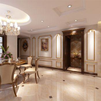 餐厅走廊简欧风格装饰设计图片