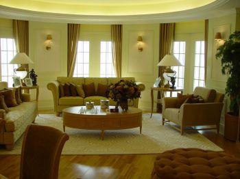 欧式风格90平米二居室房子装修效果图
