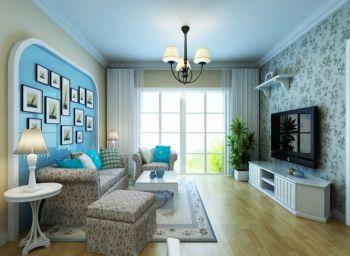 田园风格90平米二居室房子装修效果图